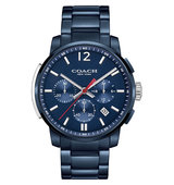 Coach 14602012 Bleecker Ion Plated Watch blue