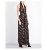 Diane Von Furstenberg Evelina Silk Blend Maxi Dress Tendu black tendu black