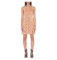 Free People Heart Races Floral Mini Dress Neutral combo