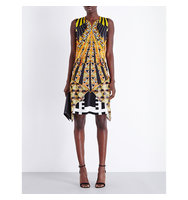 Givenchy Geometric Print Silk Satin Dress Multi