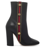 Gucci Carly Leather Heeled Ankle Boots Blk other