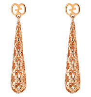 Gucci Diamantissima 18ct Rose Gold Earrings gold