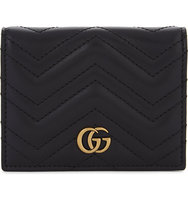 Gucci Marmont Quilted Leather Card Case Black