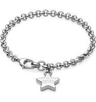 Gucci Trademark Star Sterling Silver Bracelet silver