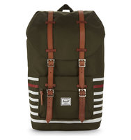 Herschel Supply Co Little America Backpack Forest night veggie tan