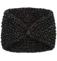 Jennifer Behr Crystal Knitted Kerchief Black