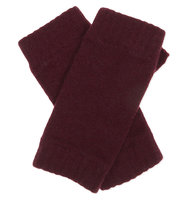 Johnstons Cashmere Wrist Warmers Boysenberry
