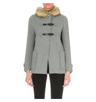 Maje Ganxiou Wool Blend Coat China grey