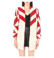 Maje Milady Knitted Cardigan Red