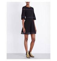 Maje Ritege Crepe Dress Black