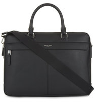 Michael Kors Owen Large Leather Briefcase Black