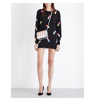 Moschino Capsule Print Wool Mini Dress Black