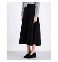 Osman Izez Wide Leg Crepe Trousers Black