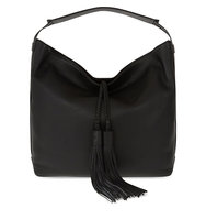 Rebecca Minkoff Isobel Grained Leather Hobo Black