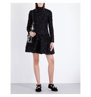 Simone Rocha A Line Quilted Dress Black