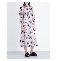 Simone Rocha Spooky Flower Embroidered Tulle Midi Dress Spooky lilac