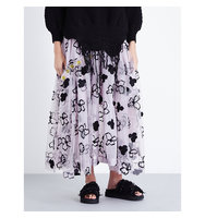 Simone Rocha Spooky Flower Embroidered Tulle Midi Skirt Spooky lilac