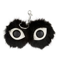 Stella Mccartney Fur Free Fur Eyes Keyring Black