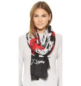 Diane Von Furstenberg Grace Hearts Faded Scarf