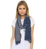 Madewell Silk Indigo Patch Scarf