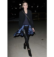 5 Pocket Leather Leggings as seen on Olivia Palermo