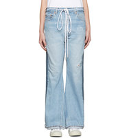 001 Levis Made and Crafted C o Off white Ssense Exclusive Indigo Arrow Straight Join Jeans