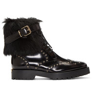 Burberry Black Fur trimmed Whenaston Boots