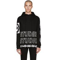 Etudes Black and White Print Hoodie
