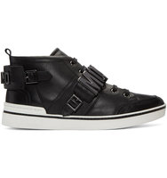 Moschino Black Logo Mid top Sneakers