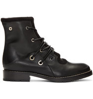 Proenza Schouler Black Lace up Boots