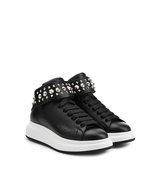 Alexander Mcqueen Embellished Leather High Top Sneakers