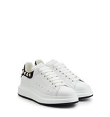 Alexander Mcqueen Leather Sneakers With Stud Embellishment