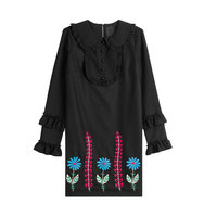 Anna Sui Embroidered Dress With Wool