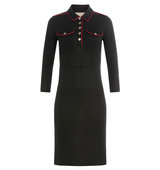 Burberry Brit Dress With Contrast Piping