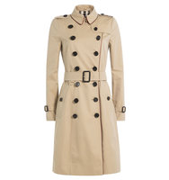 Burberry London Cotton Trench Coat With Contrast Piping