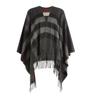 Burberry London Fringed Wool Cashmere Cape
