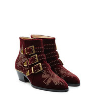 Chlo Studded Susanna Suede Ankle Boots