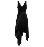 Dkny Velvet Dress With Asymmetric Hemline