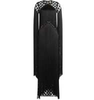 Elie Saab Fringed Floor Length Dress