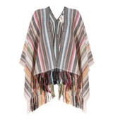 Figue Striped Alpaca Poncho