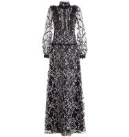 Giambattista Valli Embroidered Lace Evening Gown With Sequin Embellishment