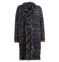 Giambattista Valli Fringed Cardigan With Mohair And Wool