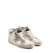Golden Goose Leather And Suede Mid Star Sneakers