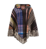 Missoni Hooded Wool Poncho With Alpaca Mohair And Silk