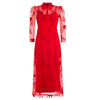 Simone Rocha Dress With Sheer Floral Overlay