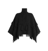 Vanessa Bruno Wool Poncho With Turtleneck