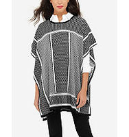 The Limited Block Patterned Poncho