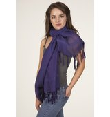 Love Quotes Linen Knotted Fringe Scarf in Regale