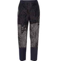 31 Phillip Lim 31 Phillip Lim Embroidered Organza Straight leg Pants Black