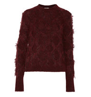 31 Phillip Lim 31 Phillip Lim Fringed Knitted Sweater Claret